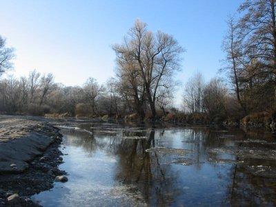 Řeka Otava v zimě